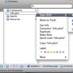 Open application\'s info.plist file