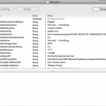 Contents of info.plist before edit