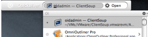 Launching oidadmin with QuickSilver