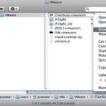 Open contents of virtual machine bundle